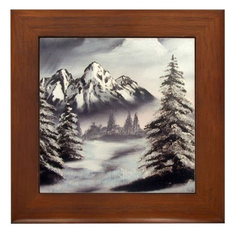 Snow Mountain Framed Tile