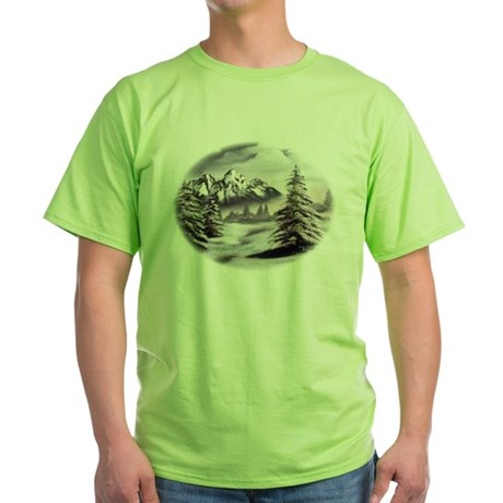 Snow Mountain Green T-Shirt