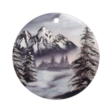 Snow Mountain Ornament (Round)