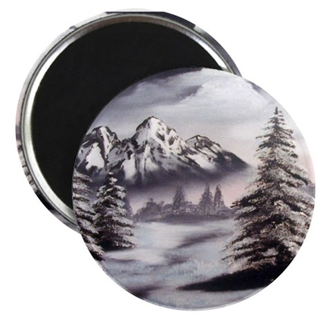 "Snow Mountain 2.25"" Magnet (10 pack)"
