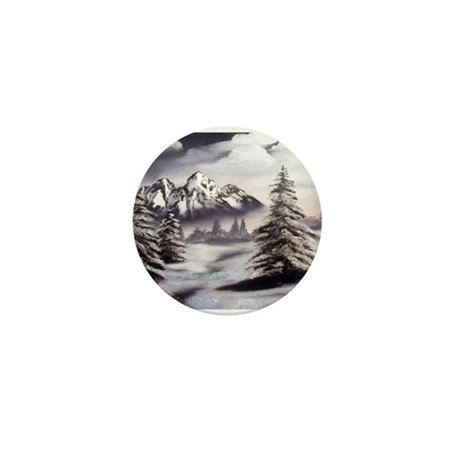 Snow Mountain Mini Button