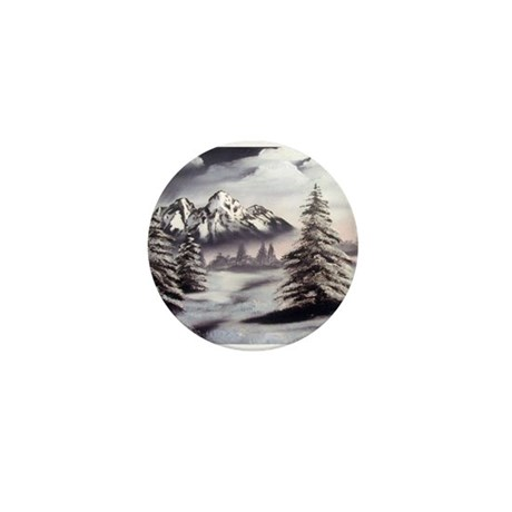 Snow Mountain Mini Button (100 pack)
