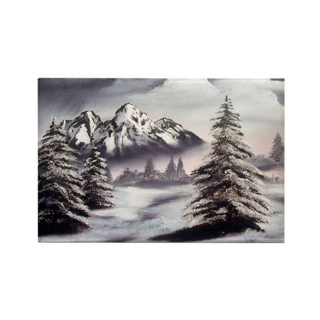Snow Mountain Rectangle Magnet (10 pack)