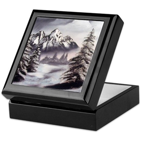 Snow Mountain Keepsake Box