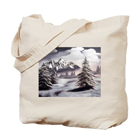 Snow Mountain Tote Bag
