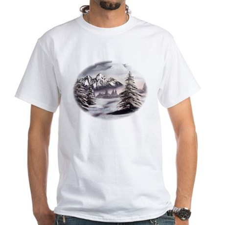 Snow Mountain White T-Shirt
