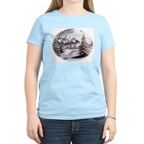 Snow Mountain Women's Pink T-Shirt