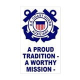 Coast Guard Auxiliary<BR> Vertical Decal