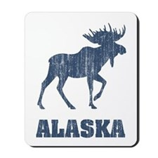 Retro Alaska Moose Mousepad
