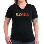 FLORIDA III Women's V-Neck Dark T-Shirt