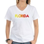 FLORIDA III Women's V-Neck T-Shirt