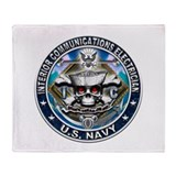 USN Interior Communications E Throw Blanket