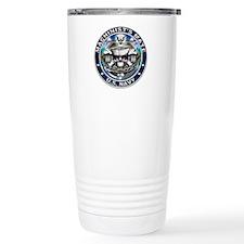 USN Machinists Mate Skull MM Ceramic Travel Mug