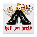 Hell on Heels Tile Coaster