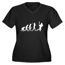 Evolve - Baseball Women's Plus Size V-Neck Dark T-