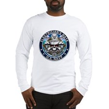 USN Electricians Mate Skull E Long Sleeve T-Shirt