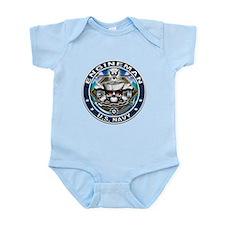 USN Engineman Skull EN Blue Infant Bodysuit