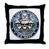USN Fire Control Technician S Throw Pillow