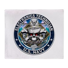 USN Electronics Technician Sk Throw Blanket
