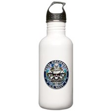 USN Naval Aircrewman Skull AW Water Bottle