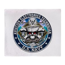 USN Aviation Electronics Tech Throw Blanket