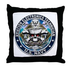 USN Aviation Electronics Tech Throw Pillow