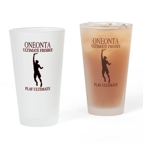 Oneonta Ultimate Frisbee Drinking Glass