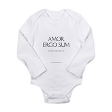'I am loved, therefore I am' Lng Slv Inf Bodysuit