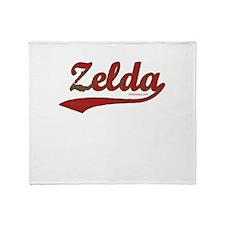 Zelda, Red Script Throw Blanket