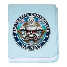 USN Air-Traffic Controller Sk baby blanket