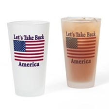 Take Back America Drinking Glass