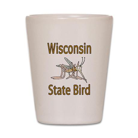 Wisconsin State Bird Shot Glass