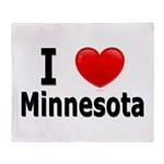 I Love Minnesota Throw Blanket
