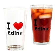 I Love Edina Drinking Glass