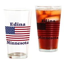 Edina Flag Drinking Glass