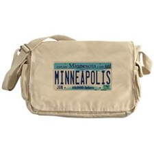 Minneapolis License Plate Messenger Bag