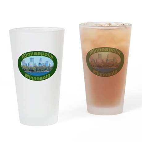City of Lakes Drinking Glass