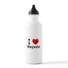 I Love Wayzata Water Bottle