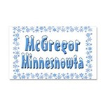 McGregor Minnesnowta Car Magnet 20 x 12