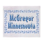 McGregor Minnesnowta Throw Blanket