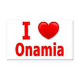 I Love Onamia Car Magnet 20 x 12