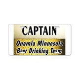 Onamia Beer Drinking Team Aluminum License Plate