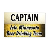 Isle Beer Drinking Team Car Magnet 20 x 12