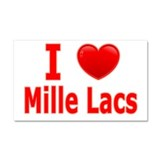 I Love Mille Lacs Car Magnet 20 x 12