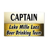 Mille Lacs Beer Drinking Team Car Magnet 20 x 12