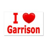 I Love Garrison Car Magnet 20 x 12