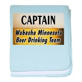 Wabasha Beer Drinking Team baby blanket