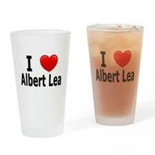 I Love Albert Lea Drinking Glass