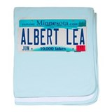 Albert Lea License Plate baby blanket
