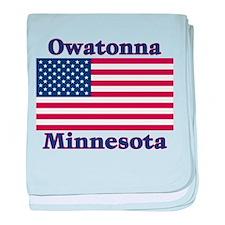 Owatonna US Flag baby blanket